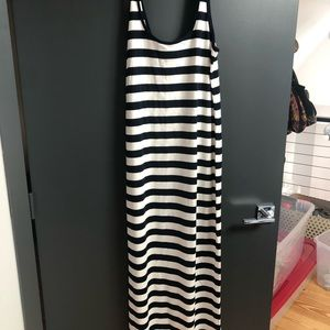 Long cotton dress - striped